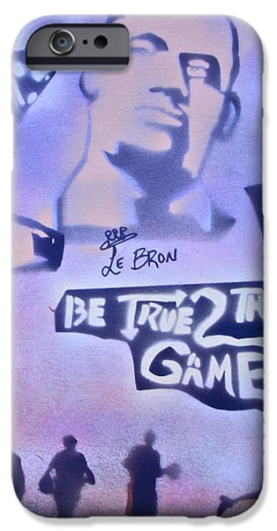 Be True 2 the game 1 iPhone Case by TONY B CONSCIOUS