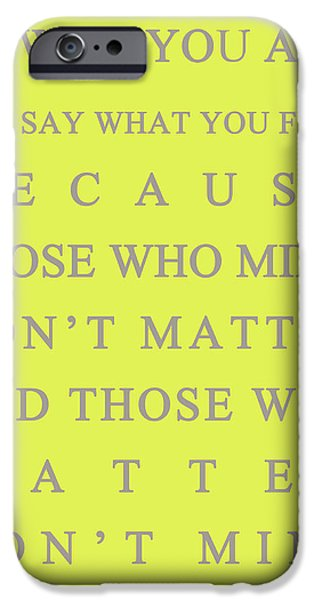 Dr. Who iPhone Cases - Be who you are iPhone Case by Nomad Art And  Design