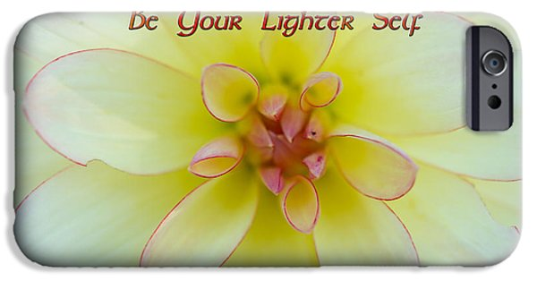 Self Discovery iPhone Cases - Be Your Lighter Self - Motivation - Inspiration iPhone Case by Marie Jamieson
