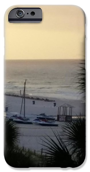 Etc. Paintings iPhone Cases - Beach #16 iPhone Case by Earnestine Clay