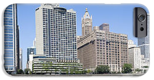 Lake Shore Drive iPhone Cases - Beach And Skyscrapers In A City, Ohio iPhone Case by Panoramic Images