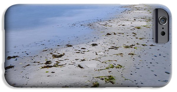 Beach Landscape iPhone Cases - Beach At Sakonnet Point iPhone Case by John Shaw
