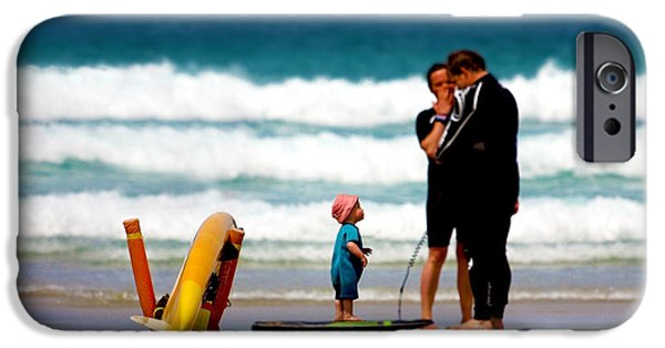 Board iPhone Cases - Beach Baby iPhone Case by Terri  Waters