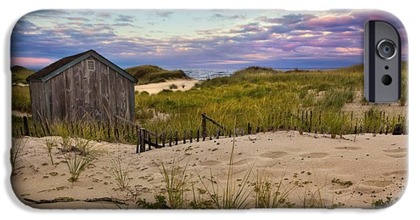Cape Cod Landscapes iPhone Cases - Beach Barn iPhone Case by Bill  Wakeley