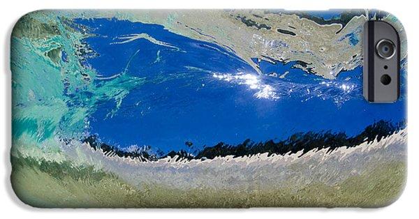Ocean Art Photography iPhone Cases - Beach Barrel iPhone Case by Sean Davey
