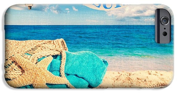 Beach Towel iPhone Cases - Beach Basket iPhone Case by Amanda And Christopher Elwell