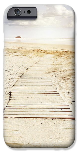 Pathway iPhone Cases - Beach boards iPhone Case by Les Cunliffe