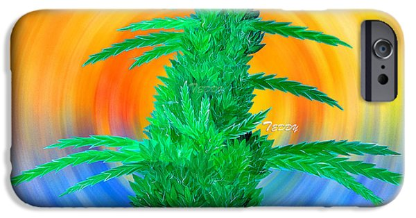 Dunk Mixed Media iPhone Cases - Beach Bud iPhone Case by Teddy Maritopia