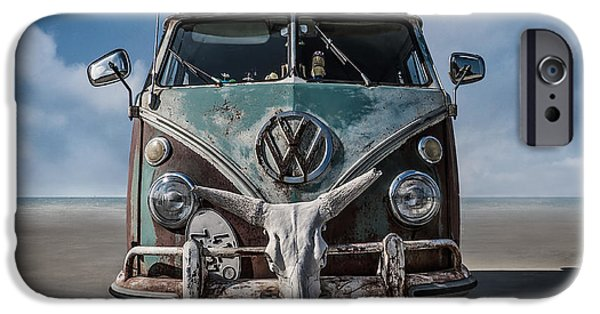 Rusted Cars iPhone Cases - Beach Bum iPhone Case by Douglas Pittman