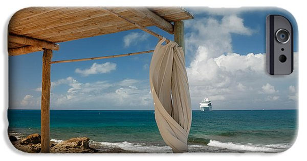 Private Island iPhone Cases - Beach Cabana  iPhone Case by Amy Cicconi