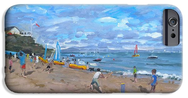 Distance iPhone Cases - Beach cricket iPhone Case by Andrew Macara