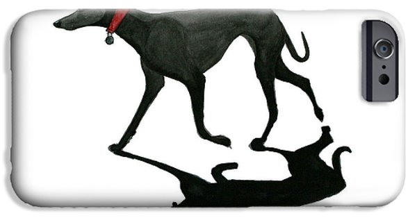 Black Dog iPhone Cases - Beach Dog iPhone Case by Richard Williamson