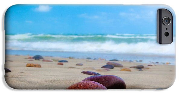 Denmark iPhone Cases - Beach Dreams in Skagen iPhone Case by Inge Johnsson
