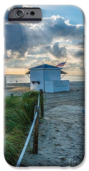 First Star iPhone Cases - Beach Entrance to Old Glory iPhone Case by Ian Monk