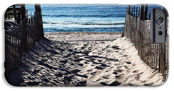 Nj iPhone Cases - Beach Entry iPhone Case by John Rizzuto