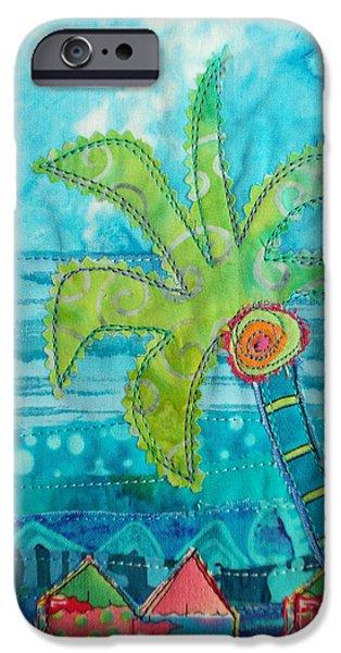 Beach Landscape Tapestries - Textiles iPhone Cases - Beach Fest iPhone Case by Susan Rienzo