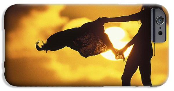 Scenery iPhone Cases - Beach Girl iPhone Case by Sean Davey