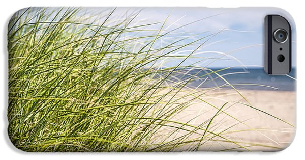 Prince Edward Island iPhone Cases - Beach grass iPhone Case by Elena Elisseeva