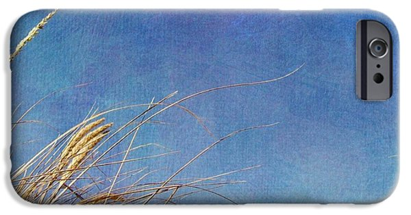 Seacapes iPhone Cases - Beach Grass in the Wind iPhone Case by Michelle Calkins