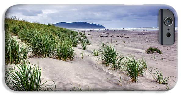 Haybale iPhone Cases - Beach Grass iPhone Case by Robert Bales