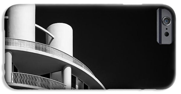 Balcony iPhone Cases - Beach Hotel iPhone Case by Dave Bowman