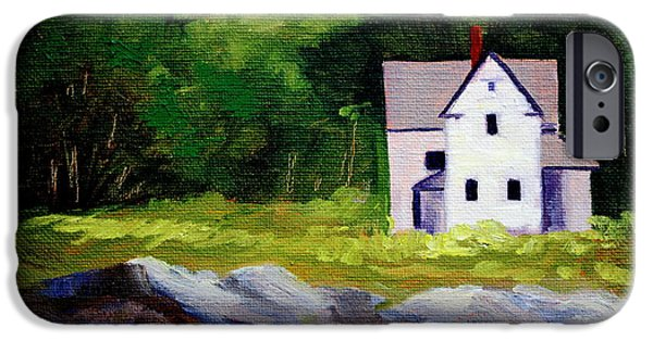 Clapboard House iPhone Cases - Beach House iPhone Case by Nancy Merkle