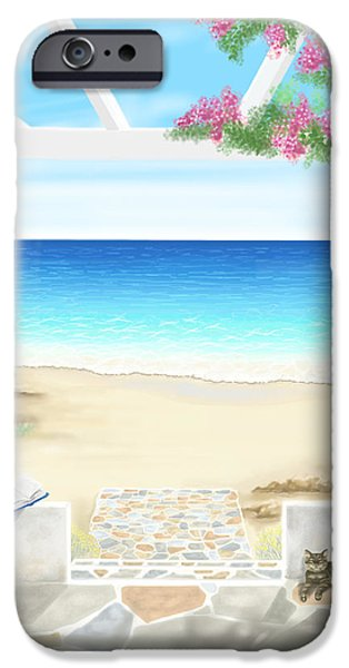 On The Beach iPhone Cases - Beach house iPhone Case by Veronica Minozzi