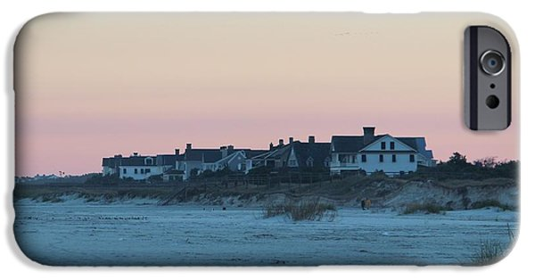 House iPhone Cases - Beach Houses iPhone Case by Cynthia Guinn