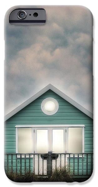 Moody Beach iPhone Cases - Beach Hut iPhone Case by Joana Kruse