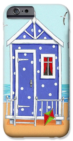 Beach Huts iPhone Case by Peter Adderley