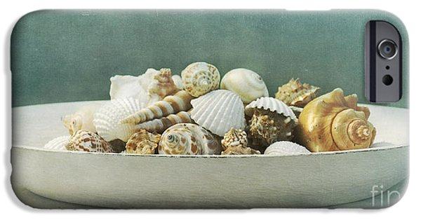 Stillife iPhone Cases - Beach In A Bowl iPhone Case by Priska Wettstein