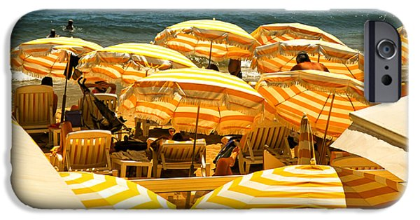 Beach iPhone Cases - Beach in Cannes  iPhone Case by Elena Elisseeva
