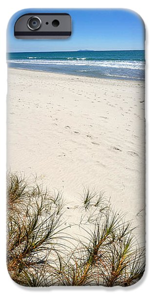 Beach Landscape iPhone Cases - Beach iPhone Case by Les Cunliffe