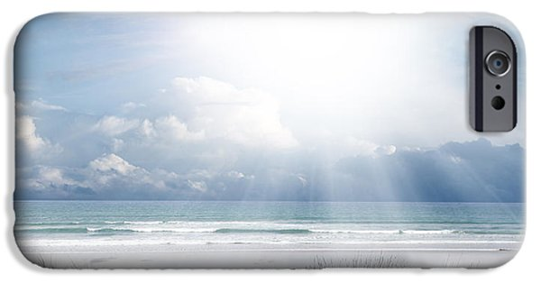 Pathway iPhone Cases - Beach light iPhone Case by Les Cunliffe