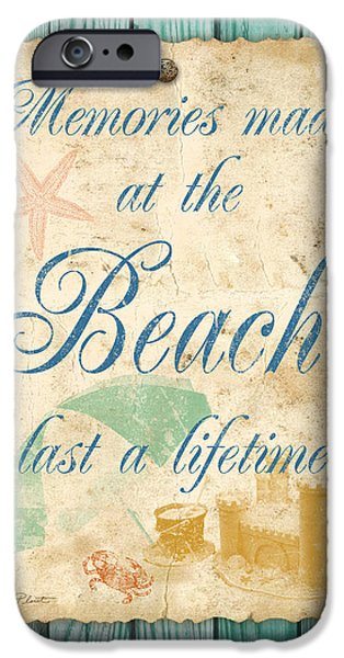 Sand Castles iPhone Cases - Beach Notes-A iPhone Case by Jean Plout
