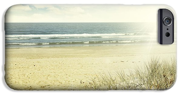 Scenic Photo Photographs iPhone Cases - Beach NZ iPhone Case by Les Cunliffe