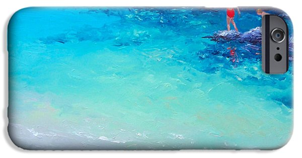 Interior Scene iPhone Cases - Beach painting - A Day to Remember iPhone Case by Jan Matson