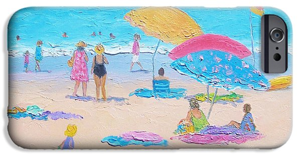 House Art iPhone Cases - Beach Painting - Colors of Summer  iPhone Case by Jan Matson