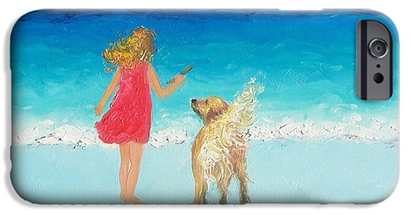 Interior Scene iPhone Cases - Beach Painting Sunkissed Hair  iPhone Case by Jan Matson