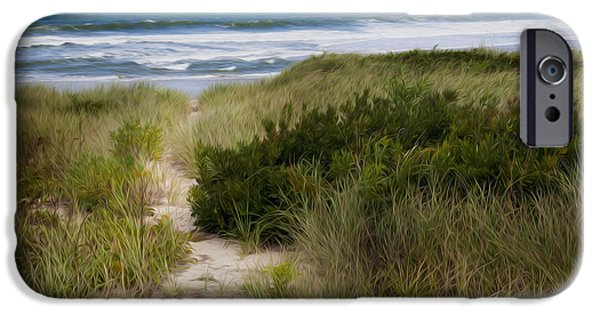 Cape Cod National Seashore iPhone Cases - Beach Path iPhone Case by Bill  Wakeley