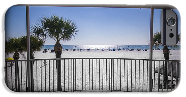 Clearwater iPhone Cases - Beach Patio iPhone Case by Carolyn Marshall