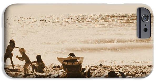 Beach Towel iPhone Cases - Beach Postcard iPhone Case by Dan Sproul