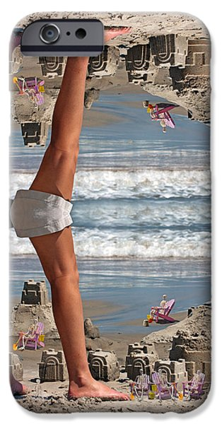 Beach Scene iPhone Case by Betsy A  Cutler