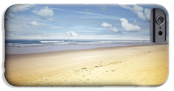 Morning iPhone Cases - Beach scene iPhone Case by Les Cunliffe