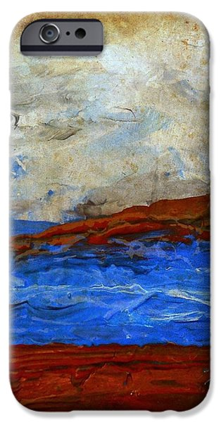 Beach Scene Painting Fine Art Print iPhone Case by Laura  Carter
