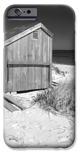 Michelle iPhone Cases - Beach Shed iPhone Case by Michelle Wiarda