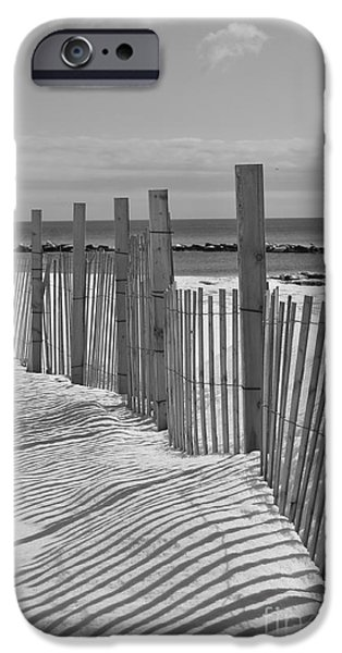 New England Snow Scene iPhone Cases - Beach Snow  iPhone Case by Catherine Reusch  Daley