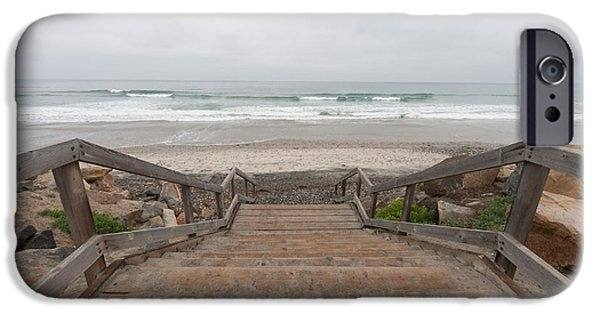 Wooden Stairs iPhone Cases - Beach Stairs iPhone Case by Tanya Harrison