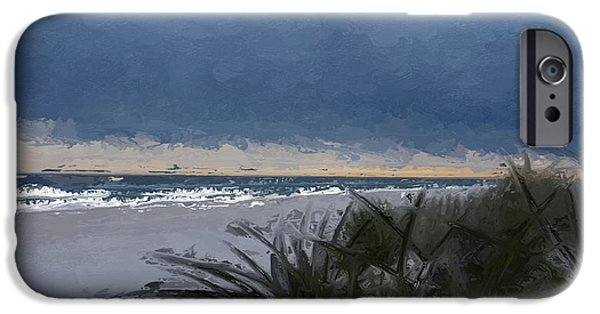 Sand Dunes Mixed Media iPhone Cases - Beach Sunrise abstract  iPhone Case by Anthony Fishburne