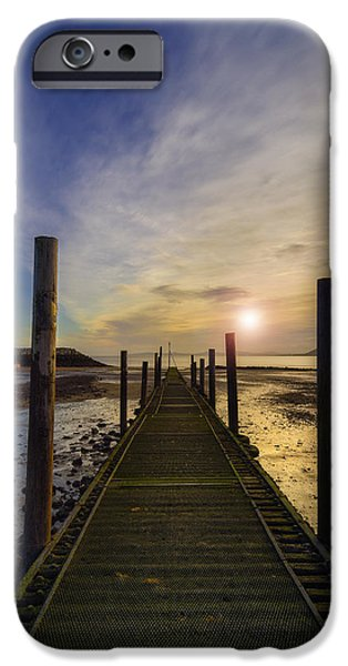 Seacapes iPhone Cases - Beach Sunrise v2 iPhone Case by Ian Mitchell